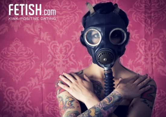 rubber fetish bdsm gas mask